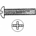 #10-24 x 2'' Phillips Round Machine Screw (100)