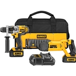 Dewalt DCK292L2 20V MAX Lithium Ion Hammerdrill / Recip Saw Combo Kit