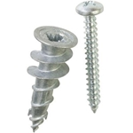 Powers 3/8'' to 1'' Zip-It Zinc Anchor W/ No.8 Screws 2349Z (100/Box)
