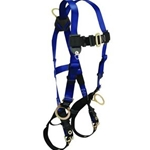 FallTech 70182X Contractor Full Body Harness with 3 D-Rings and Tongue Buckle Leg Straps, Universal Fit 2XL