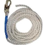 FallTech 8150T Vertical Lifeline with Snap Hook and Taped End, 50-Foot