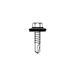 Tek Screw W Sealing Washer 12 14 X 1 1 2 Hex Washer